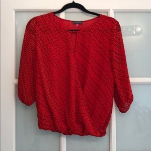 Black and Red Vince Camuto blouse